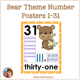 bear-theme-number-posters-1-30