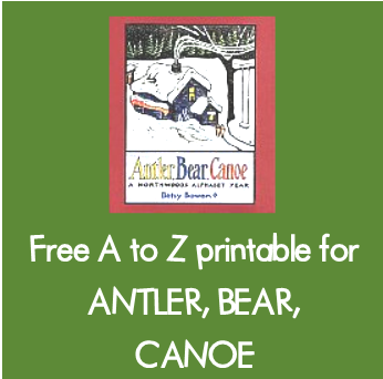 free A to Z Activities for Antler Bear Canoe by Betsy Bowen