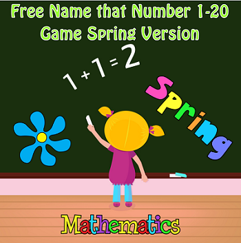 Number Names Match 1-20 Spring Theme Free PDF