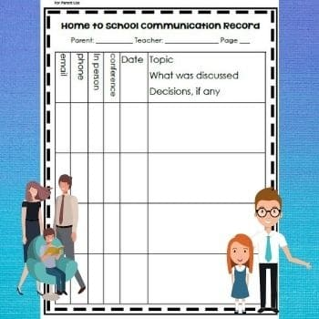 home-to-school-communication-record-freebie