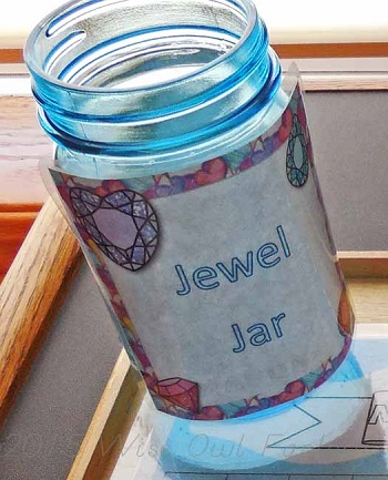 jewel jar for collecting jewels for children