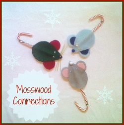 holiday-inspired craft Kid-Made Mice Christmas Ornaments