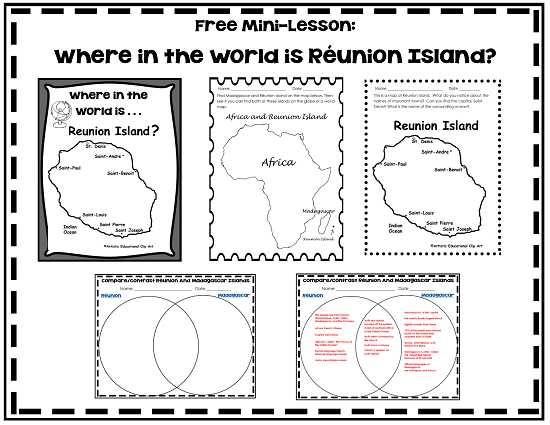 free printable where is Reunion Island differences-between-Reunion-Island-and-Madagascar-Island