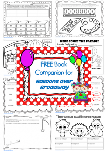 Balloons Over Broadway Free Printable