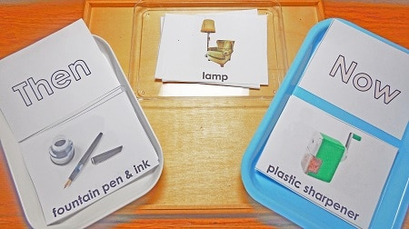 Then and Now Sorting Cards Free Printable