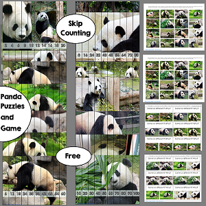 panda theme skip-counting-puzzles-free-instant-download