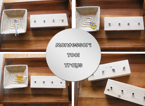 Montessori Tool Trays and 3-Part Cards
