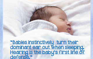 babies-sleep-with-dominant-ear-up according to the book Smart Moves Learning is Not All in Your Head