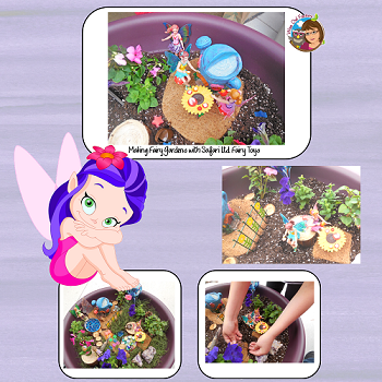 fairy-garden-with-Safari-Ltd-toys
