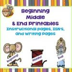 Beginning, Middle, and End: Story Writing, 250 PDF pages Now included foldables and a kindergarten printable