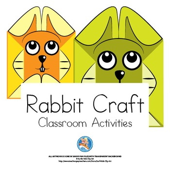 rabbit craft cut and fold craft Crafts-and-Classroom-Decorations-Rabbit-Theme