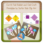 Cut and Fold Rabbit and Owl Craft Printables