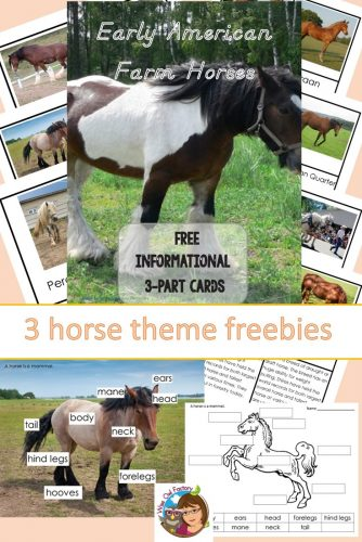 Horses-3-part-cards-and-horse-labels-freebies