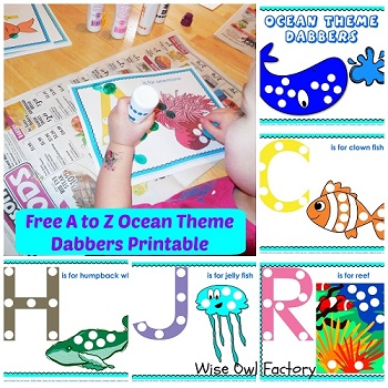 ocean theme abc dabbers activity free printable