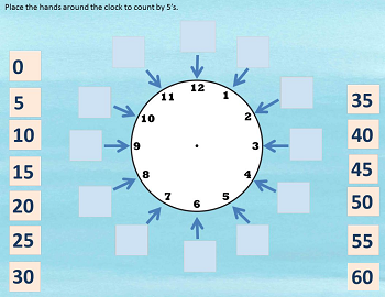 count-by-5-around-clock free interactive Google Slide