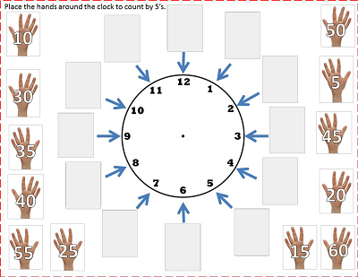 move-the-numbers-around-the-clock-to-count-by-5s free Google slide