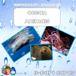 Ocean Animals 3-part Cards