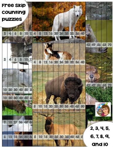 puzzles-included-in-skip-counting-2-to-10-wild-animals-freebie