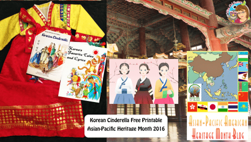 Asian-Pacific-Heritage-Month-Fb-Korea free Korean Cinderella compare/contrast with American version printable PDF