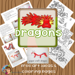 Horned Chinese Dragon Art Ideas