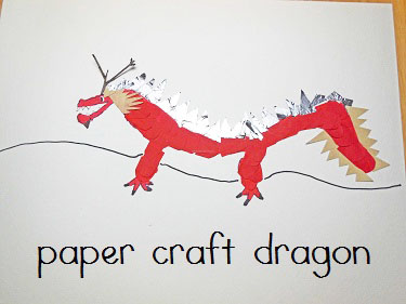Dragon-paper-and-drawing-craft-with-twig-horns