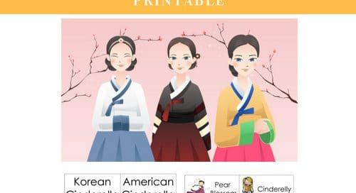 Korean-Cinderella-compare-versions-free-printable-PDF