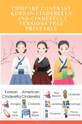 2016 Asian-Pacific-Heritage-Month-Fb-Korea free Korean Cinderella compare/contrast with American version printable PDF