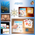 Japan Bingo Game for Grades K-4