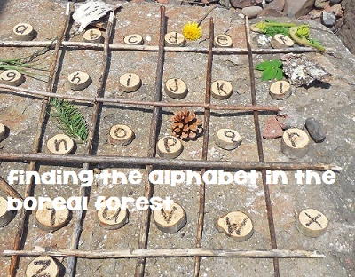 alphabet hunting in the forest