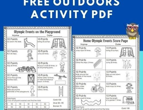 Olympic Vocabulary and Playground Activity Free Download