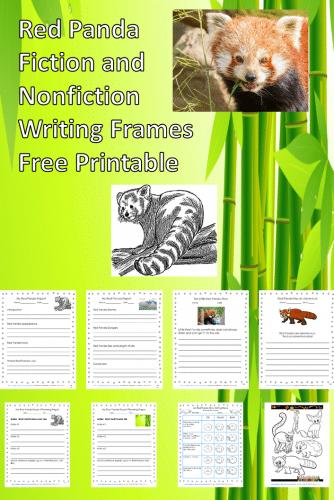 Red-Panda-writing-frames-fiction-nonfiction