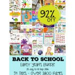 Back to School Early Years Bundle 92% Off