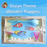 Dolphin Writing Frames and Wooden Spoon Craft