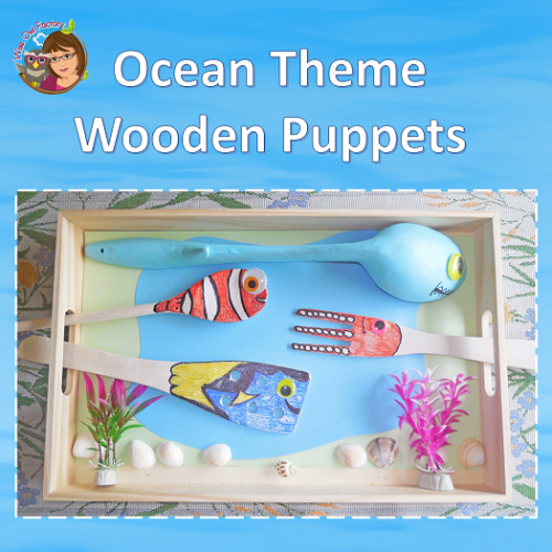 ocean-theme-wooden-puppet-craft