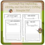 Beginning Middle End Writing Story Writing and Freebie