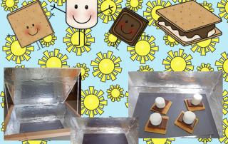 Sun S'mores Baked in a DIY Solar Oven