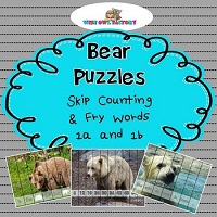 Bear-Theme-Puzzles-Skip-Counting-1-10-and-Fry-Words-1a-and-1b-Sentences