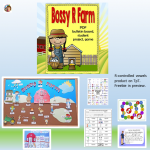 Bossy-R Farm Bulletin Board, Game, and Word Sorts