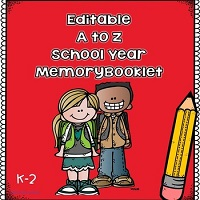 Editable-A-to-Z-School-Year-Memory-Booklet-for-K-2