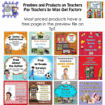 Products and Freebies on Teachers Pay Teachers