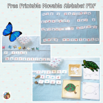 Movable Alphabet Printable for Writing