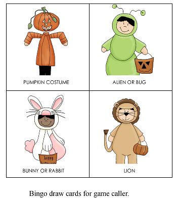 Gentle Halloween bingo game draw cards