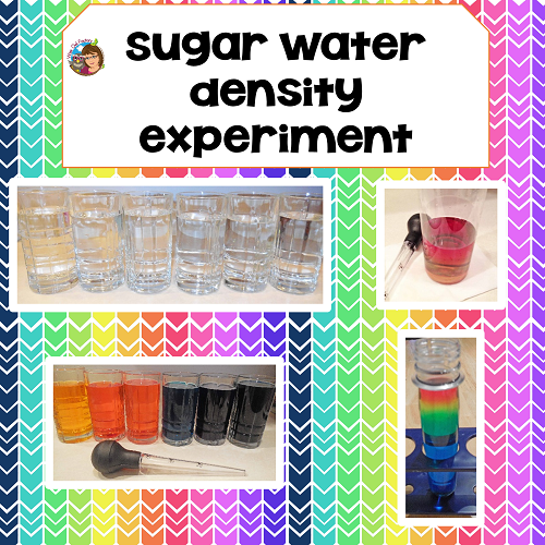 Rainbow-water-density-science-experiment