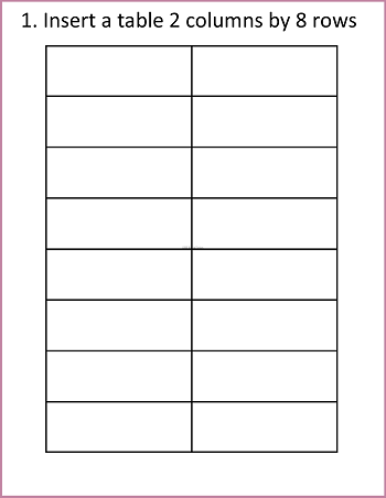 insert-a-table-2-columns-by-8-rows-to-begin-making-3-part-cards