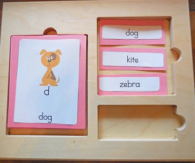 Lower Case Alphabet 3-Part Cards
