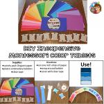 Inexpensive DIY Montessori Color Tablets