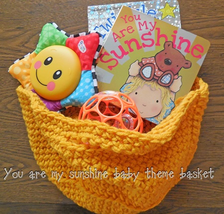 Baby Theme Baskets with Board Books and Toys