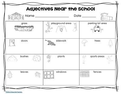 Adjective Walks Around the School Activity