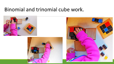 binomial and trinomial cube work