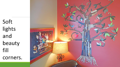 lamps and lighting help create a beautiful and peaceful atmosphere